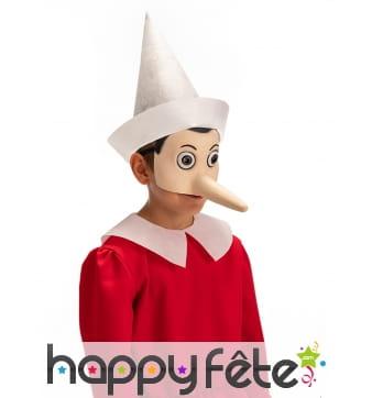 Demi masque de Pinocchio pour adulte