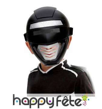 Demi masque de power ranger noir pour enfant