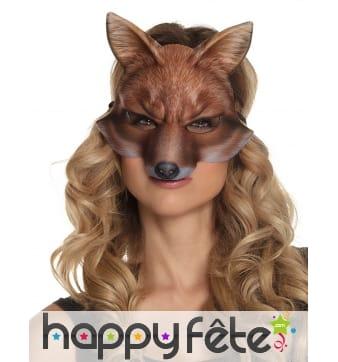 Demi masque de renard pour adulte