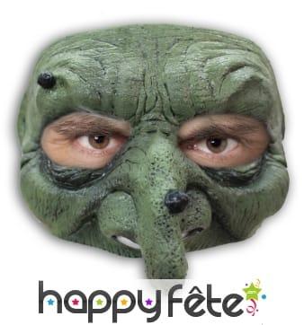 Demi-masque de sorcière en latex