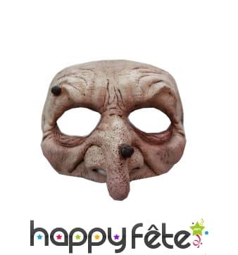 Demi-masque de sorcière pour adulte