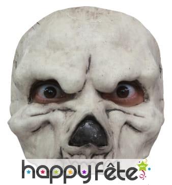 Demi-masque de squelette en latex
