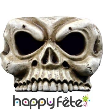 Demi-masque de squelette pour adulte