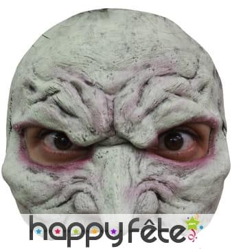 Demi masque de vampire blanc en latex