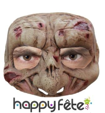Demi-masque de zombie en latex