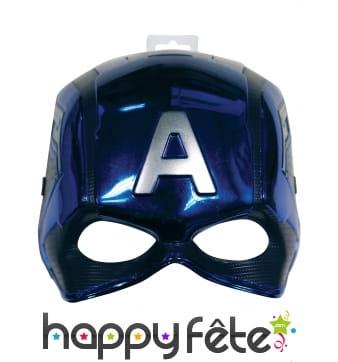 Demi-masque du Captain America taille enfant