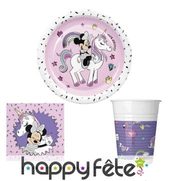 Déco Minnie et licorne pour table d'anniversaire
