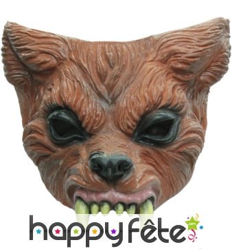 Demi masque en latex de loup garou