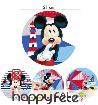 Disque Minnie et Mickey en azyme de 21cm