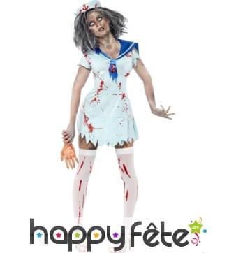 Déguisement marin femme zombie