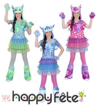 Deguisement monster girl 3 couleurs assorties