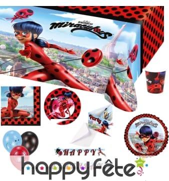 Déco Miraculous Ladybug pour table d'anniversaire