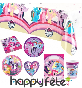 Déco My Little Pony pour table d'anniversaire
