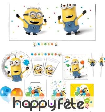 Déco Minions party pour table d'anniversaire