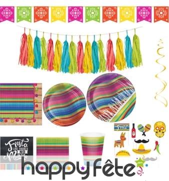 Décorations mexicaine Poncho aux couleurs vives