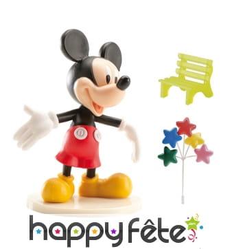 Décorations Mickey pour gâteau en kit. PVC