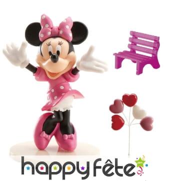 Décorations Minnie pour gâteau en kit. PVC