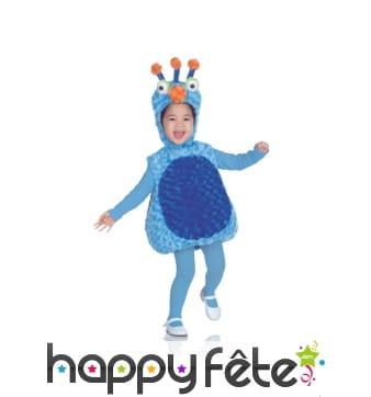 Déguisement monstre peluche bleu pour enfant