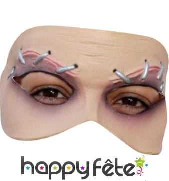 Demi-masque sourcils agrafés