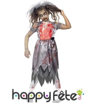 Déguisement mariée zombie pour enfant