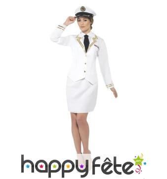 Déguisement officier de marine pour femme