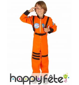Déguisement orange d'astronaute pour enfant