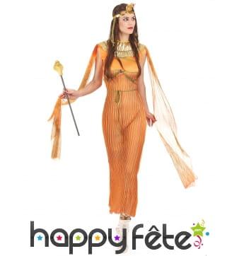 Déguisement orange de déesse égyptienne