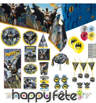 Décorations pour anniversaire thème Batman