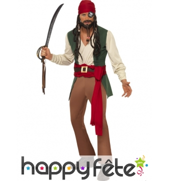 Déguisement pirate caraibes