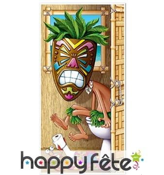 Déco porte de toilette Hawaïen sur le pot