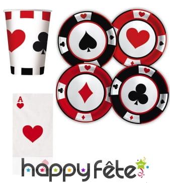 Décoration poker de table