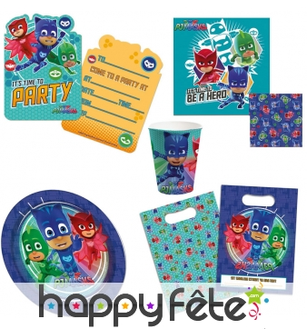 Décorations Pjmasks de table d'anniversaire
