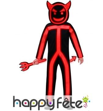 Déguisement phosphorescent de diable pour enfant