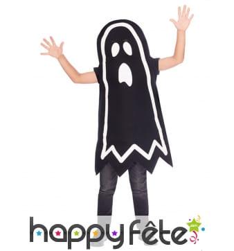 Déguisement phosphorescent de fantôme pour enfant