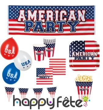 Décorations pour fête USA