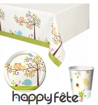 Décorations petits Hiboux de table d'anniversaire