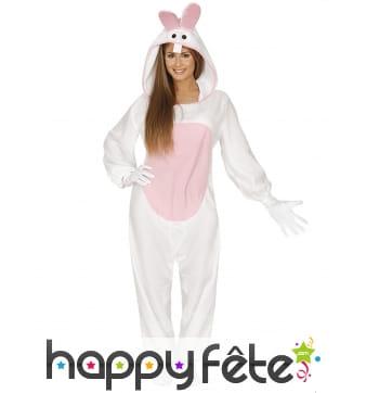 Déguisement petit lapin blanc pour adulte