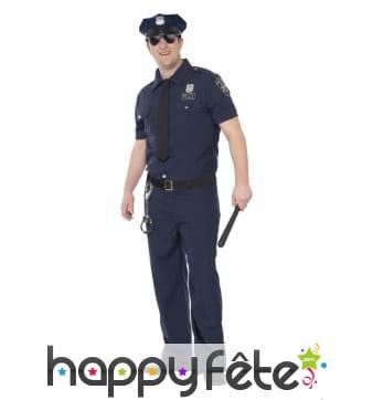Déguisement policier new-yorkais grande taille