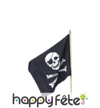 Drapeau pirate noir