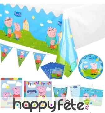 Déco Peppa Pig pour table d'anniversaire