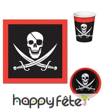 Décoration pirates pour table d'anniversaire