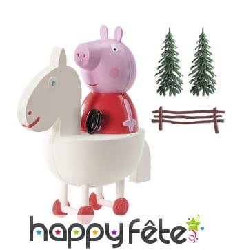 Décorations Peppa Pig pour gâteau en kit. PVC