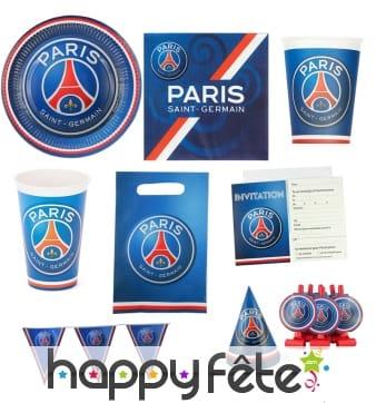Décorations PSG pour table d'anniversaire