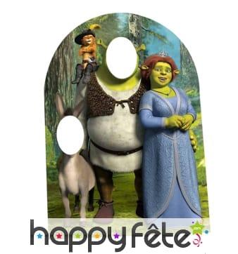 Double passe tête de Shrek pour enfant