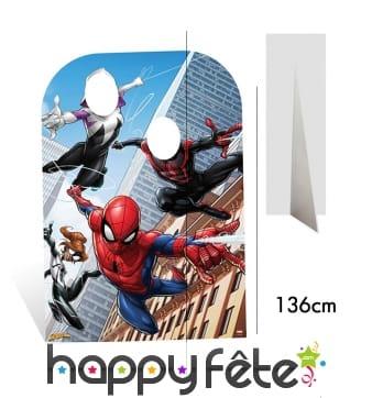 Double passe tête Spiderman pour enfant