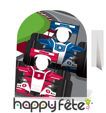 Double passe-têtes pilotes de formule 1