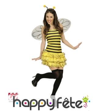 Déguisement robe abeille sexy femme adulte