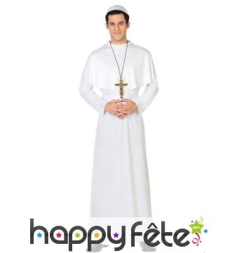 Déguisement robe blanche de pape