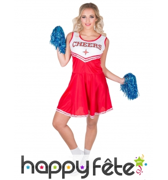 Déguisement rouge CHEERS de pompom girl adulte