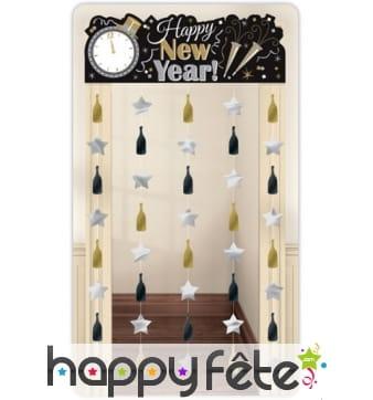 Décor rideau de porte Happy New Year